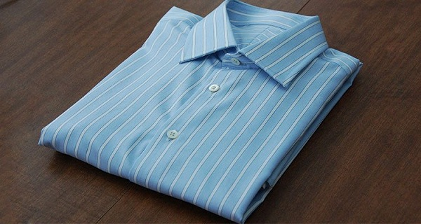 How to fold a dress shirt